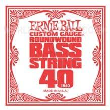 Ernie Ball BASS Guitar Strings - SINGLE STRING PACKS - All Gauges  .040 - .135